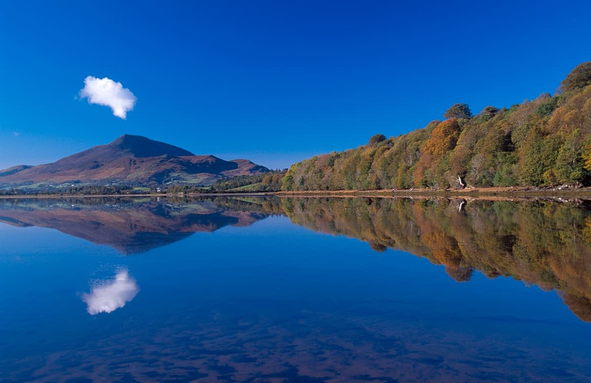 Autumn reflections of Muckish Mountain, Co Donegal, Ireland.