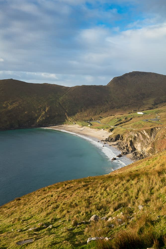 View across Keem Bay, Achill Island, County Mayo, Ireland.