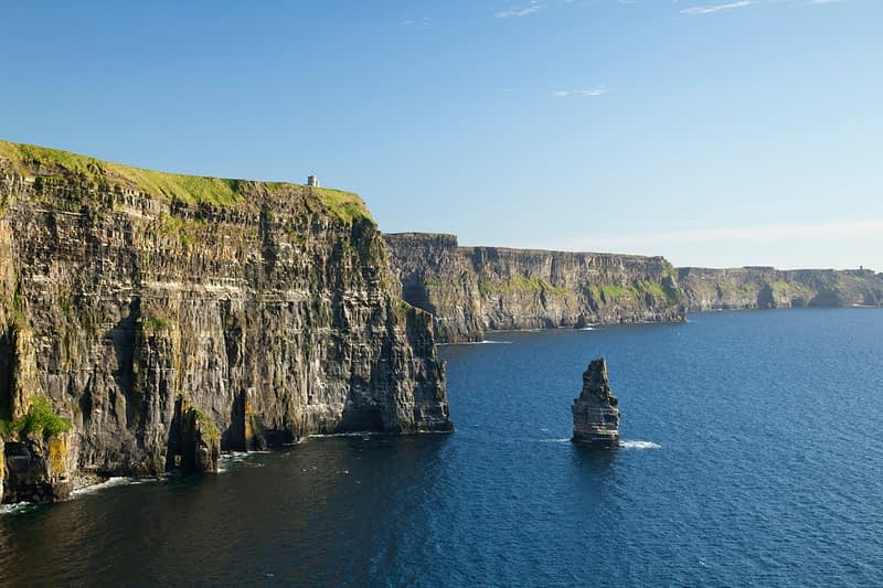 View along the Cliffs of Moher, Co Clare, Ireland.