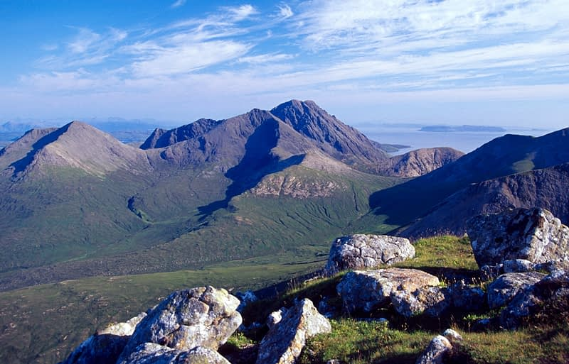 View towards Blaven from Beinn Dearg Mhor, Isle of Skye, Scotland.