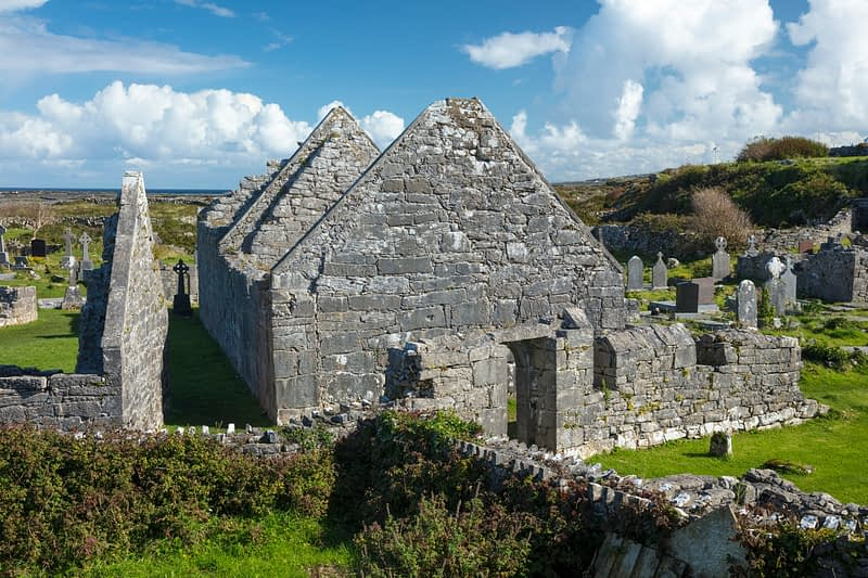 The Seven Churches, Inishmore, Aran Islands, County Galway, Ireland.