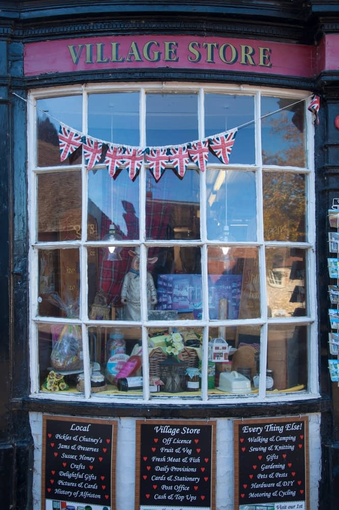 Shop front, Alfriston, County Sussex, England.