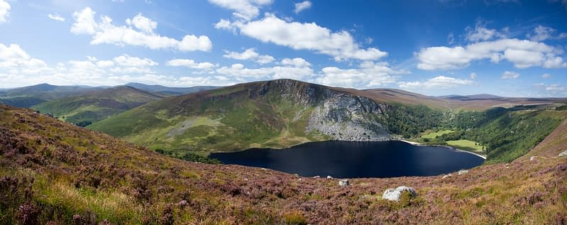 View over Lough Tay and the Wicklow Mountains, Co Wicklow, Ireland.
