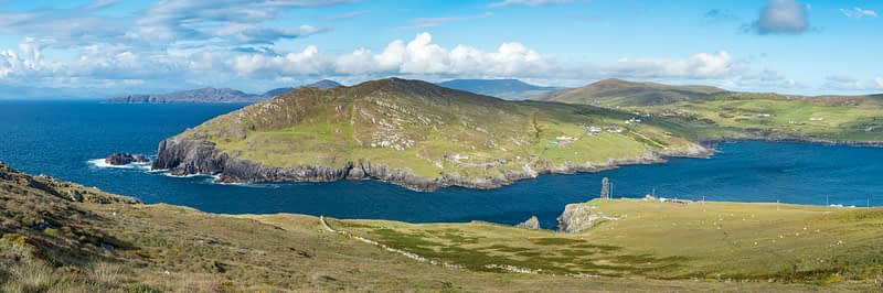 View to the mainland from Dursey Island, Beara Peninsula, County Cork, Ireland.