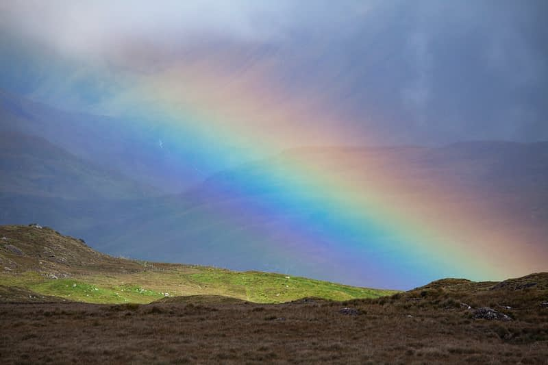 Mountain rainbow, County Galway, Ireland.