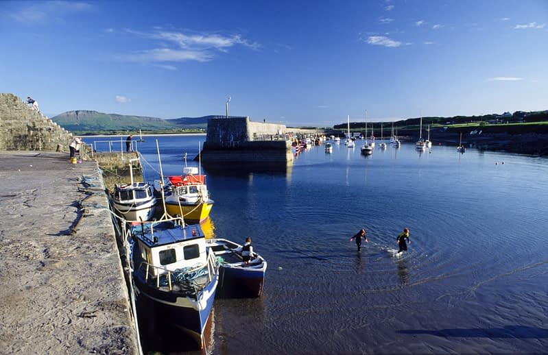 Summer at Mullaghmore Harbour, Co Sligo, Ireland.