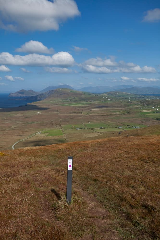 View across Valentia Island from Bray Head, County Kerry, Ireland.