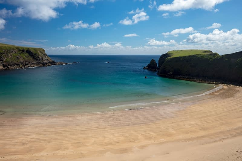 The beach of Trabane, or Silver Strand, in Malin Beg, County Donegal, Ireland.