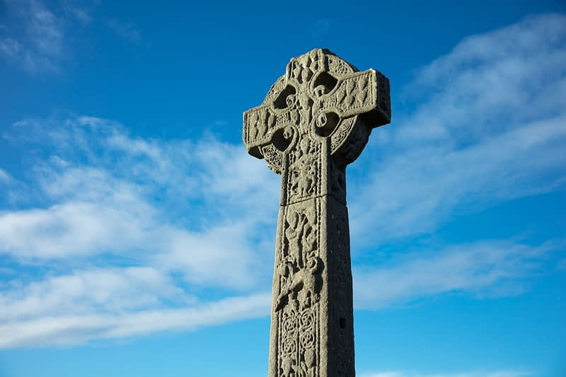 11th century High Cross, Drumcliff, County Sligo, Ireland.