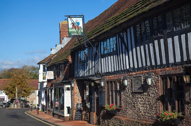 The George Inn, Alfriston, County Sussex, England.