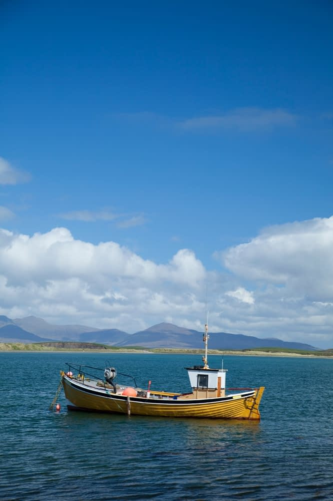 Fishing boat in Clew Bay, Co Mayo, Ireland.