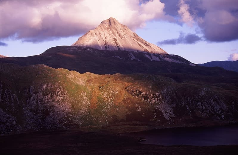 Light and shaddow on Errigal Mountain, Co Donegal, Ireland.