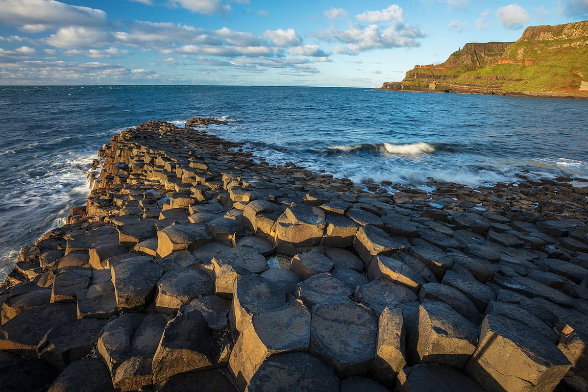 Evening at the Giant's Causeway, County Antrim, Northern Ireland.