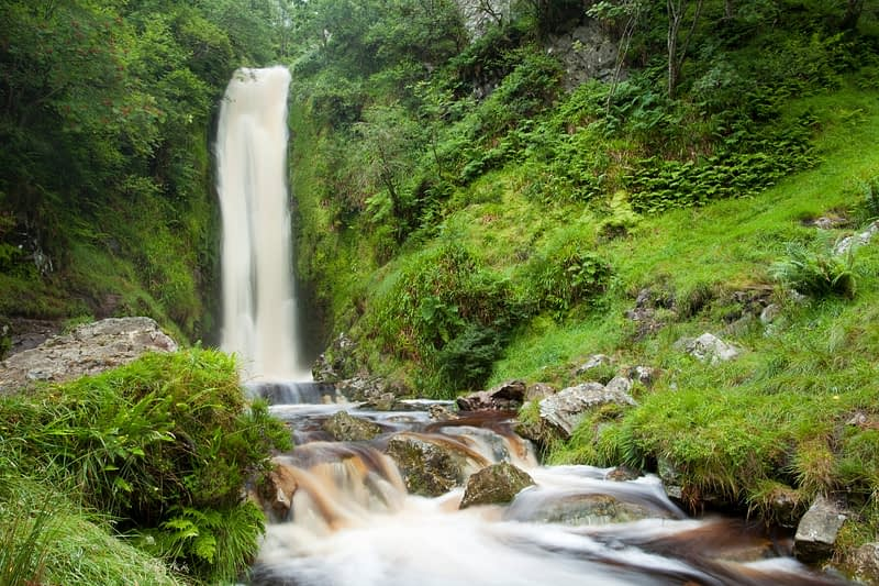 Glenevin Waterfall, Clonmany, Inishowen, Co Donegal, Ireland.