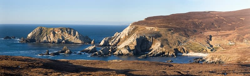 Shattered coastal scenery around Port, Co Donegal, Ireland.