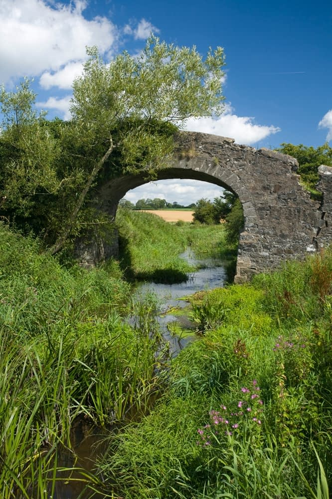 Stone bridge across the Newry Canal, Co Armagh, Northern Ireland.