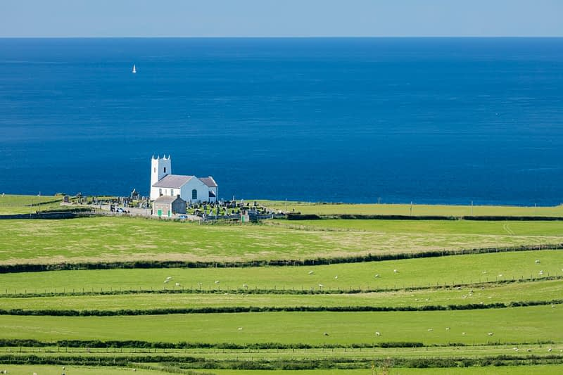 Ballintoy Church, Causeway Coast, County Antrim, Northern Ireland.