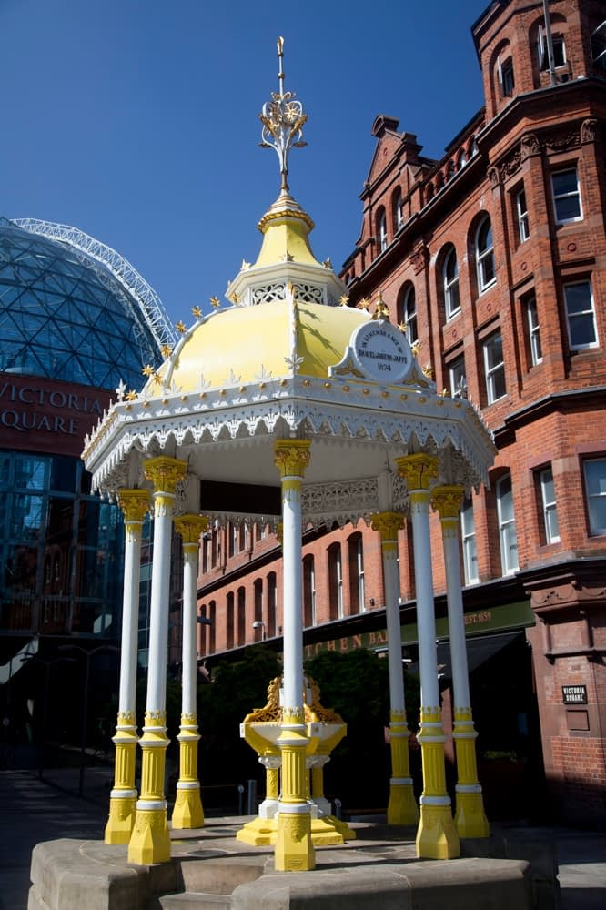 Victoria Square bandstand, Belfast, Co Antrim, Northern Ireland.