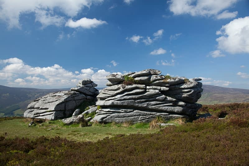 The granite tor of Fitzwilliam's Seat, near the summit of Knocknagun, Dublin Mountains, County Dublin, Ireland.