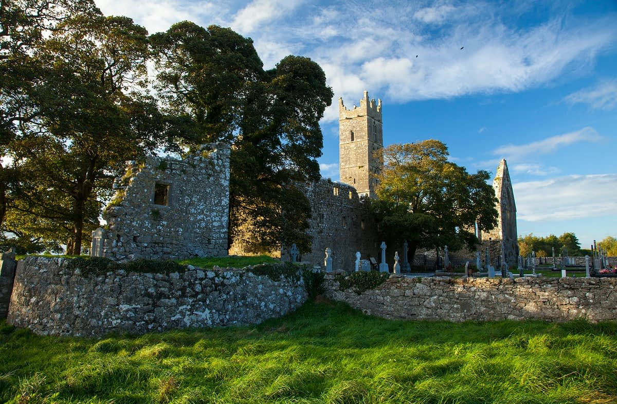 Claregalway Abbey, Claregalway, County Galway, Ireland.