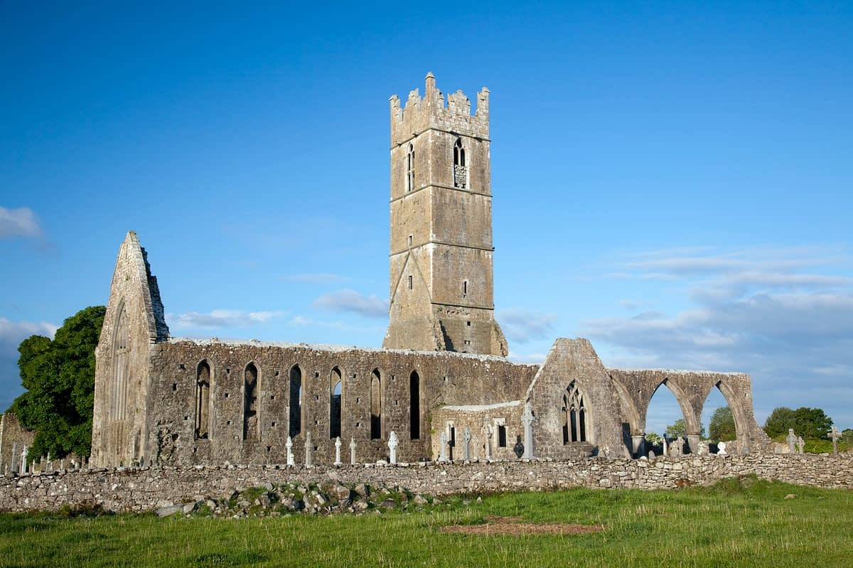 Claregalway Friary, Co Galway, Ireland.