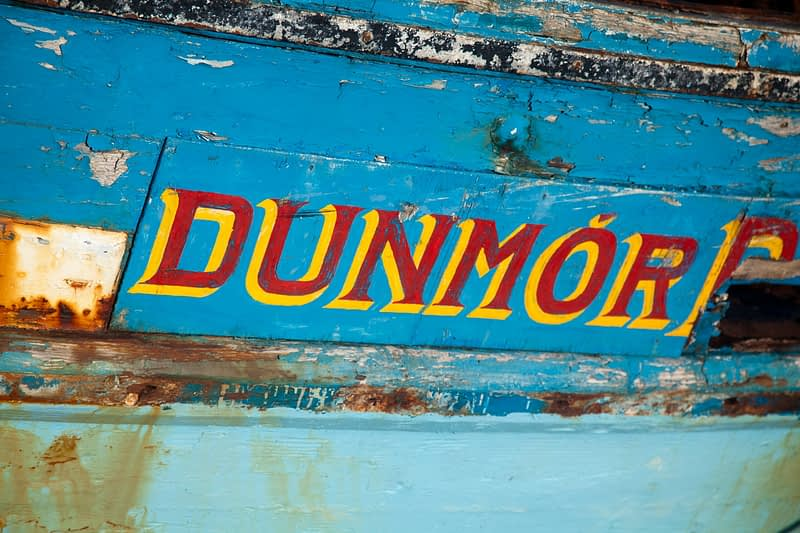 Deatil of fishing boat, Killala port, Co Mayo, Ireland