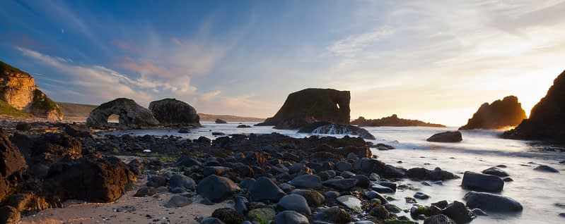 Panorama, Whitepark Bay, Causeway Coast; County; Antrim, Northern Ireland.