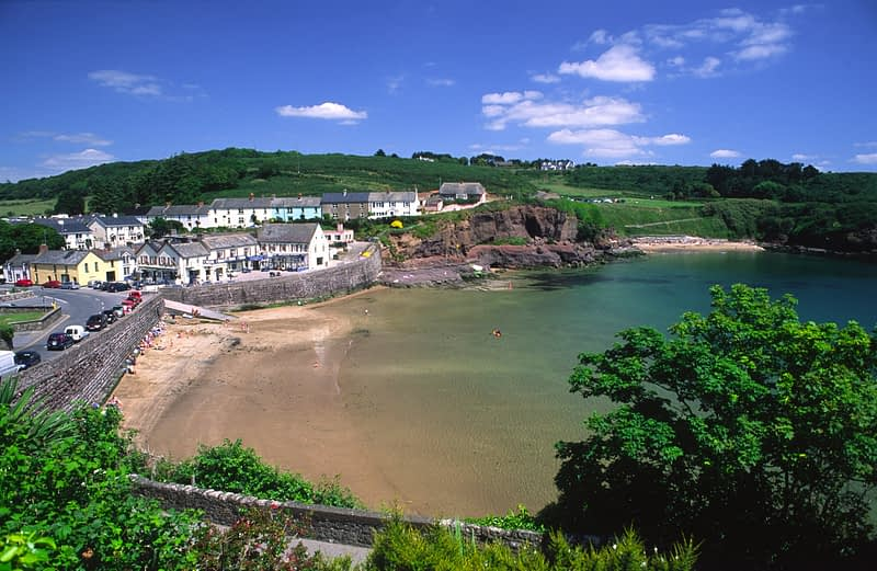 The beach front at Dunmore East, Co Waterford, Ireland.
