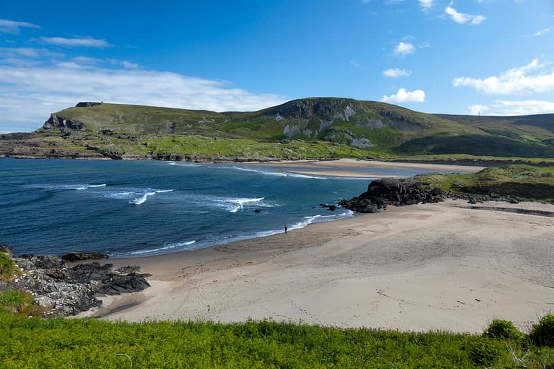 Glencolmcille beach beneath Glen Head, Co Donegal, Ireland.