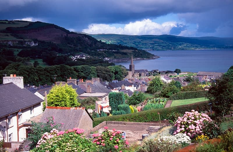 Glenarm village, Co Antrim, Northern Ireland.