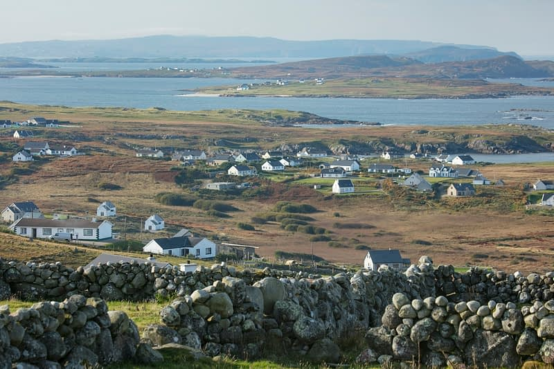 View over the coastline of Gweedore, County Donegal, Ireland.