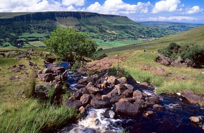 Altmore Burn, Glenariff, Co Antrim, Northern Ireland.