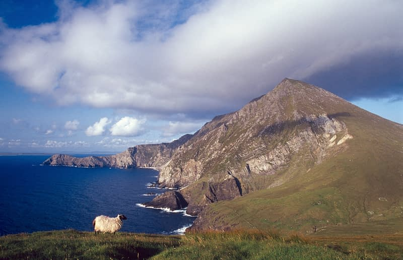 The cliffs of Croaghaun, Achill Island, Co Mayo, Ireland.