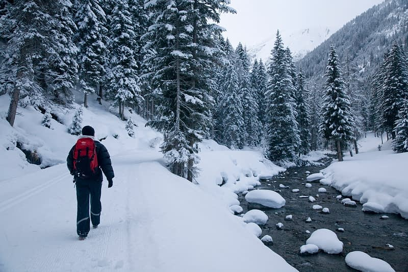 Winter walking near Ischgl, Tirol, Austria