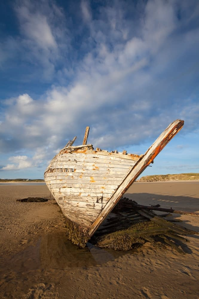 Bad Eddie's shipwreck, Bunbeg, Gweedore, County Donegal, Ireland.
