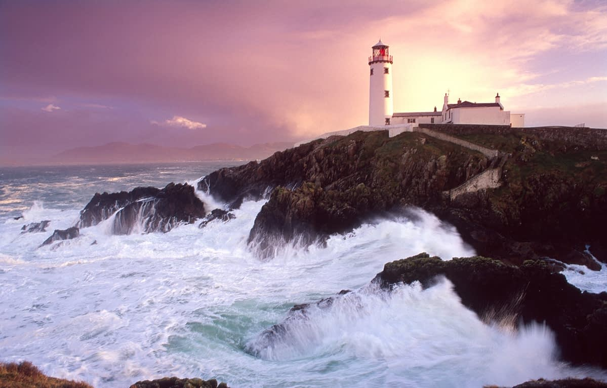 Evening storm at Fanad Head lighthouse, Co Donegal, Ireland.