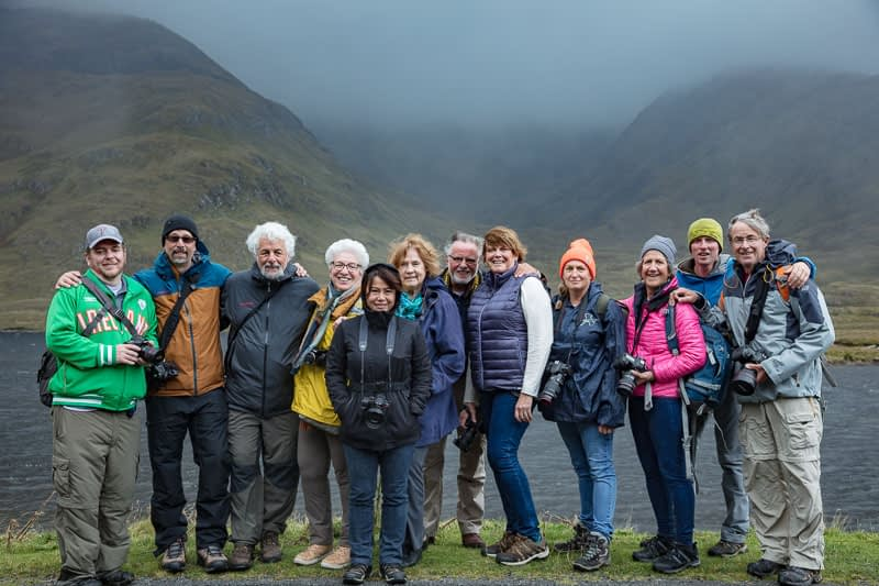 Photography group enjoying private photography tours Ireland