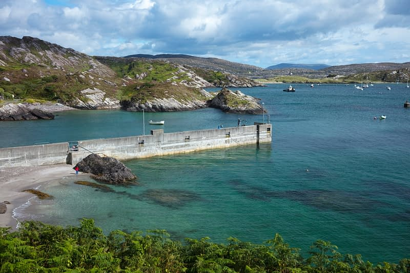 Bunavalla Pier in Derrynane Bay, Caherdaniel, County Kerry, Ireland.