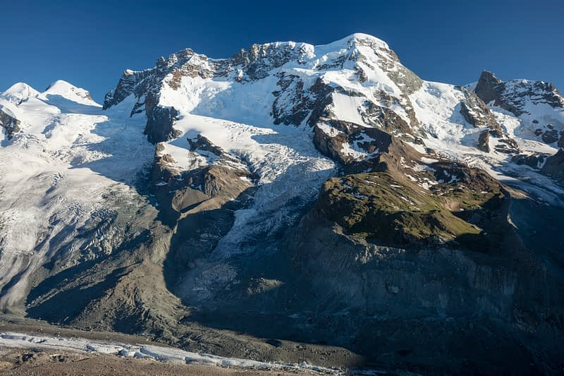 The Breithorn from Gornergrat, Zermatt, Valais, Switzerland.