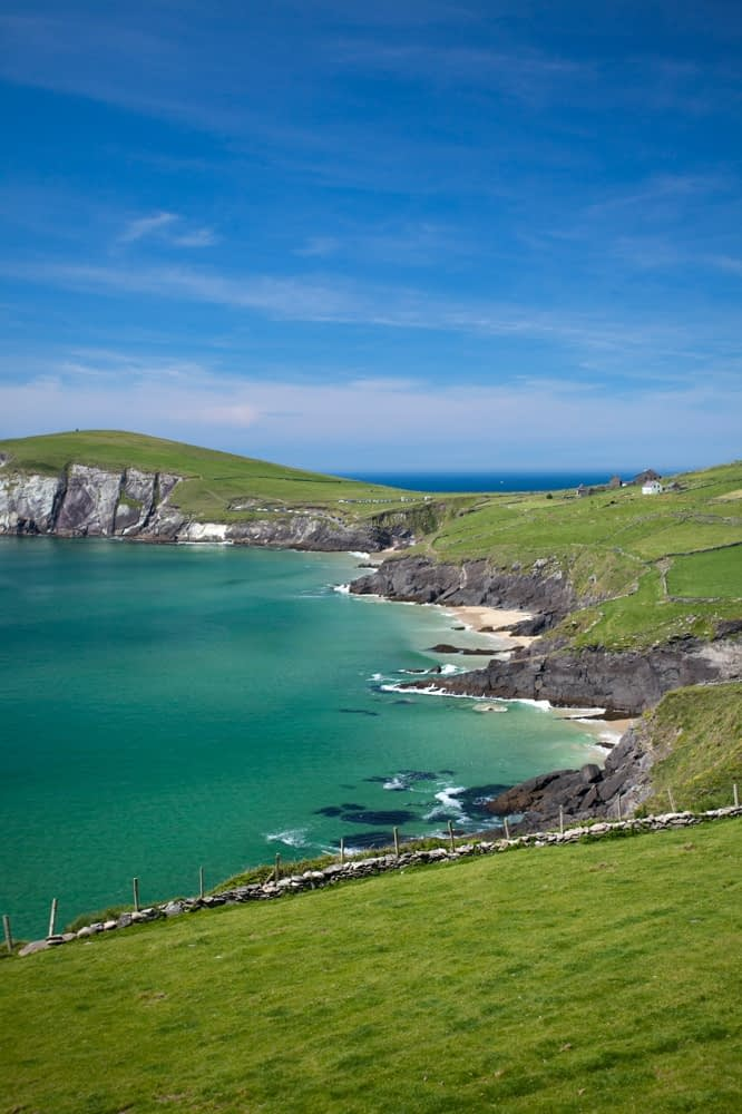 View over Coumeenoole Bay, Dingle Peninsula, Co Kerry, Ireland.
