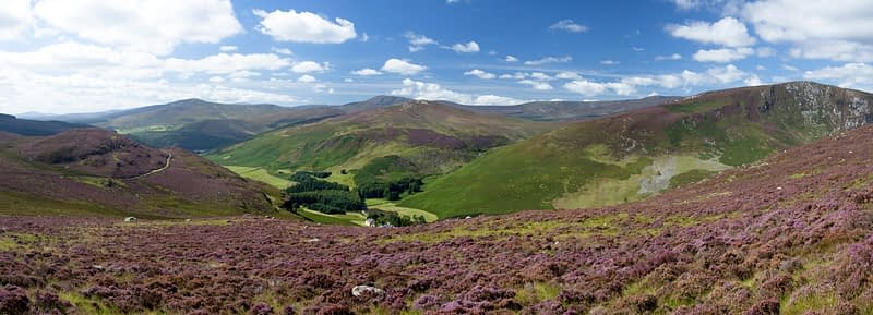 The Cloghoge valley and Wicklow Mountains, Co Wicklow, Ireland.