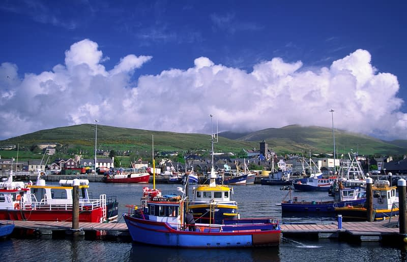Fishing boats in Dingle Harbour, Co Kerry, Ireland.