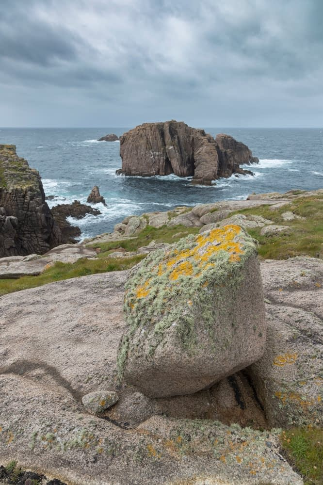 The rocky coastline of Owey Island, The Rosses, County Donegal, Ireland.