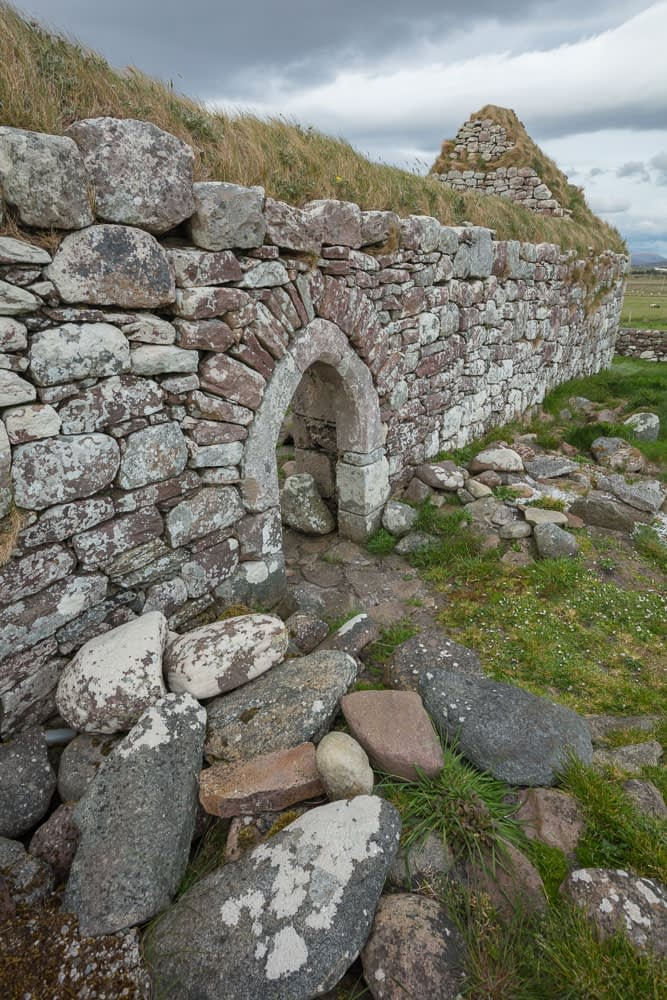 Early Christian church ruins at Gubbinwee, County Mayo, Ireland.