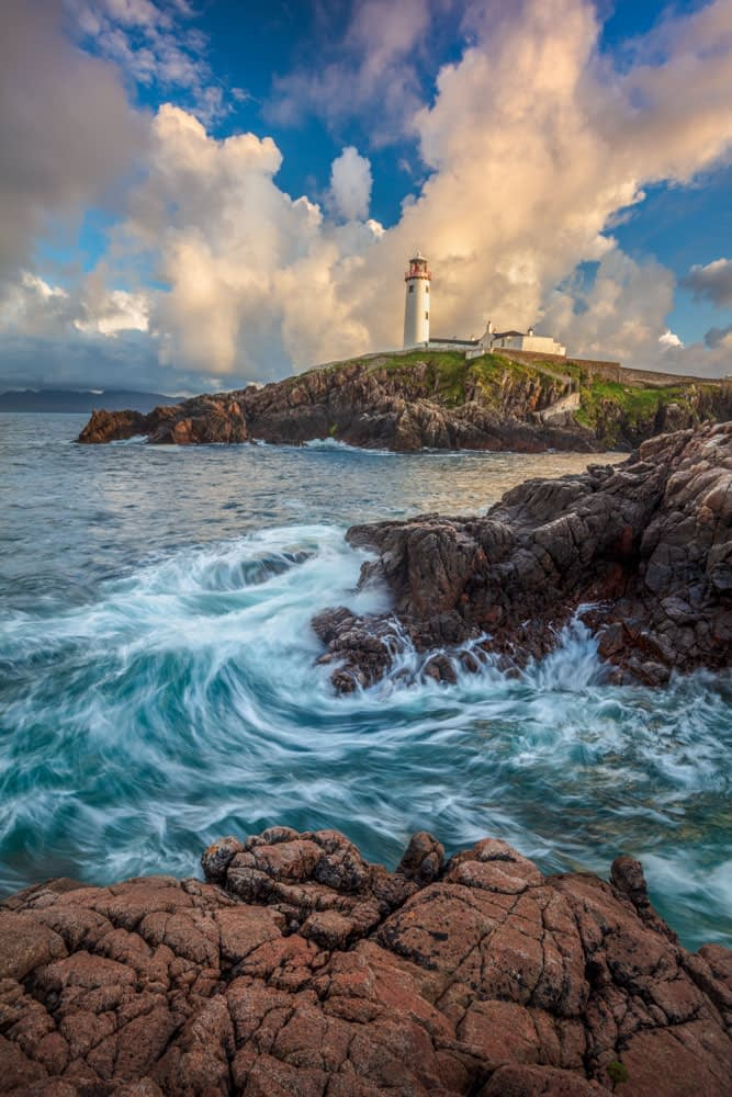 Evening at Fanad Head Lighthouse, County Donegal, Ireland.