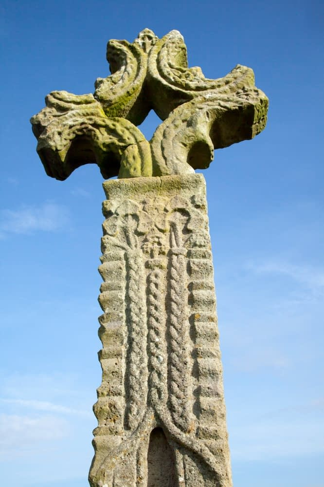15th century high cross, Devenish Island, Lower Lough Erne, County Fermanagh, Northern Ireland.