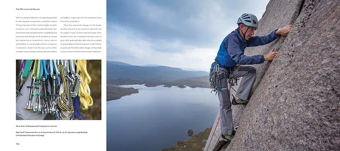 Landscape photography books Ireland - inside pages of The Mountains of Ireland