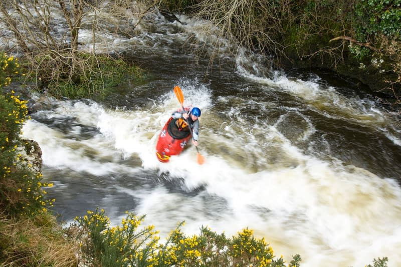 Kayaking on the Lenan River, Co Donegal, Ireland.