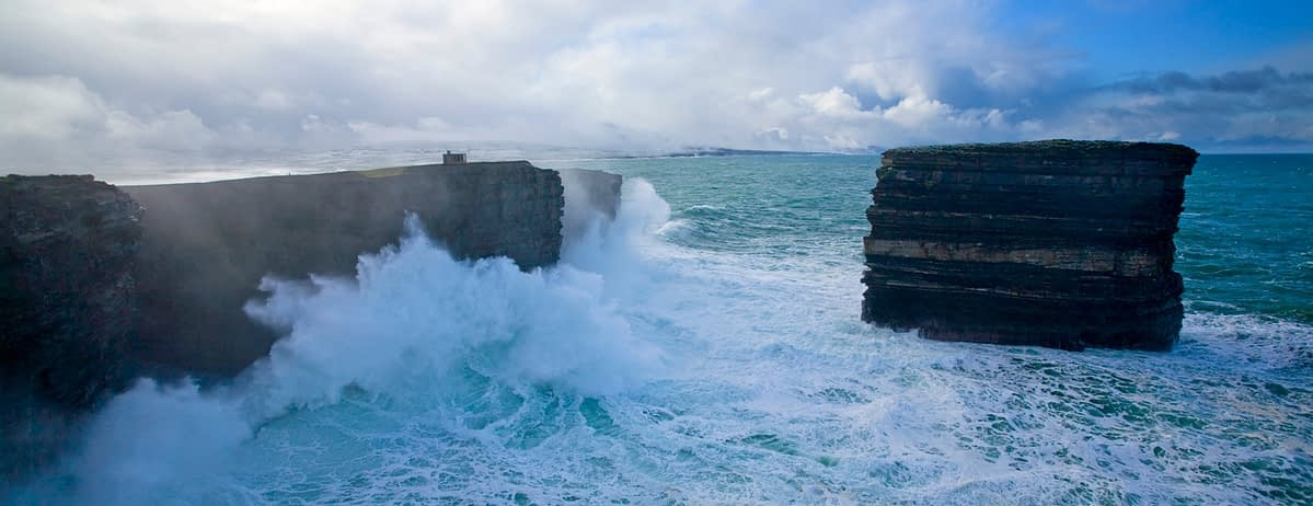 Downpatrick Head during winter swell, Co Mayo, Ireland