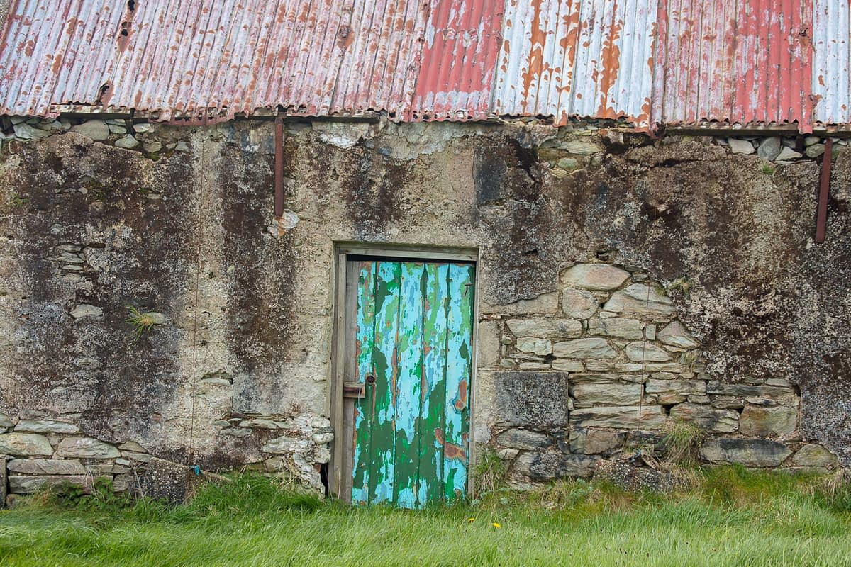 Old stone cottage, Achill Island, County Mayo, Ireland.